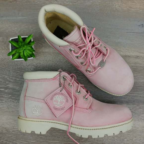 Timberland Chukka Nellie Pink Suede Boots Size 6